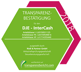 DJE - InterCash Transparenzbestätigung 2018