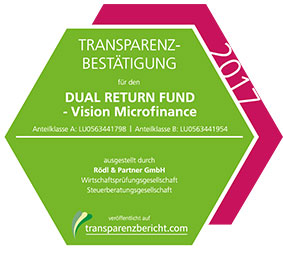DUAL RETURN FUND - Vision Microfinance Transparenzbestätigung 2017