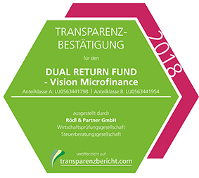 DUAL RETURN FUND - Vision Microfinance Transparenzbestätigung 2018